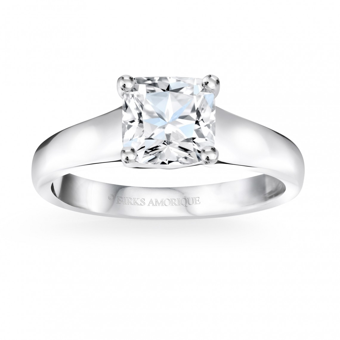 Birks Amorique® Solitaire Diamond Engagement Ring Image