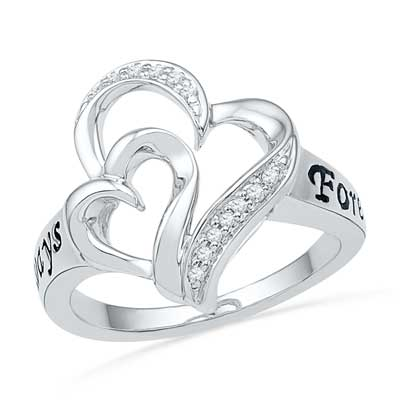 Double Heart Ring Image