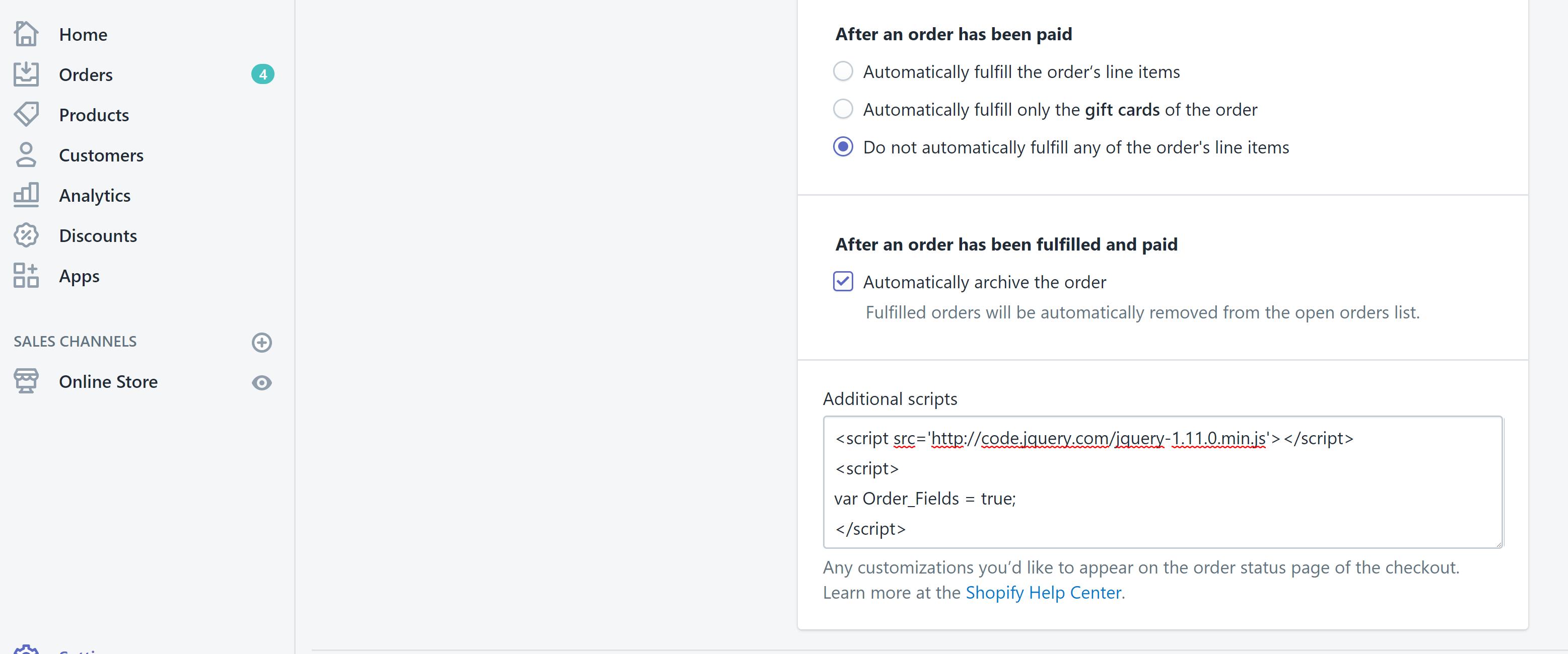 Shopify Order Status Fields - Etoile Web Design - Premium