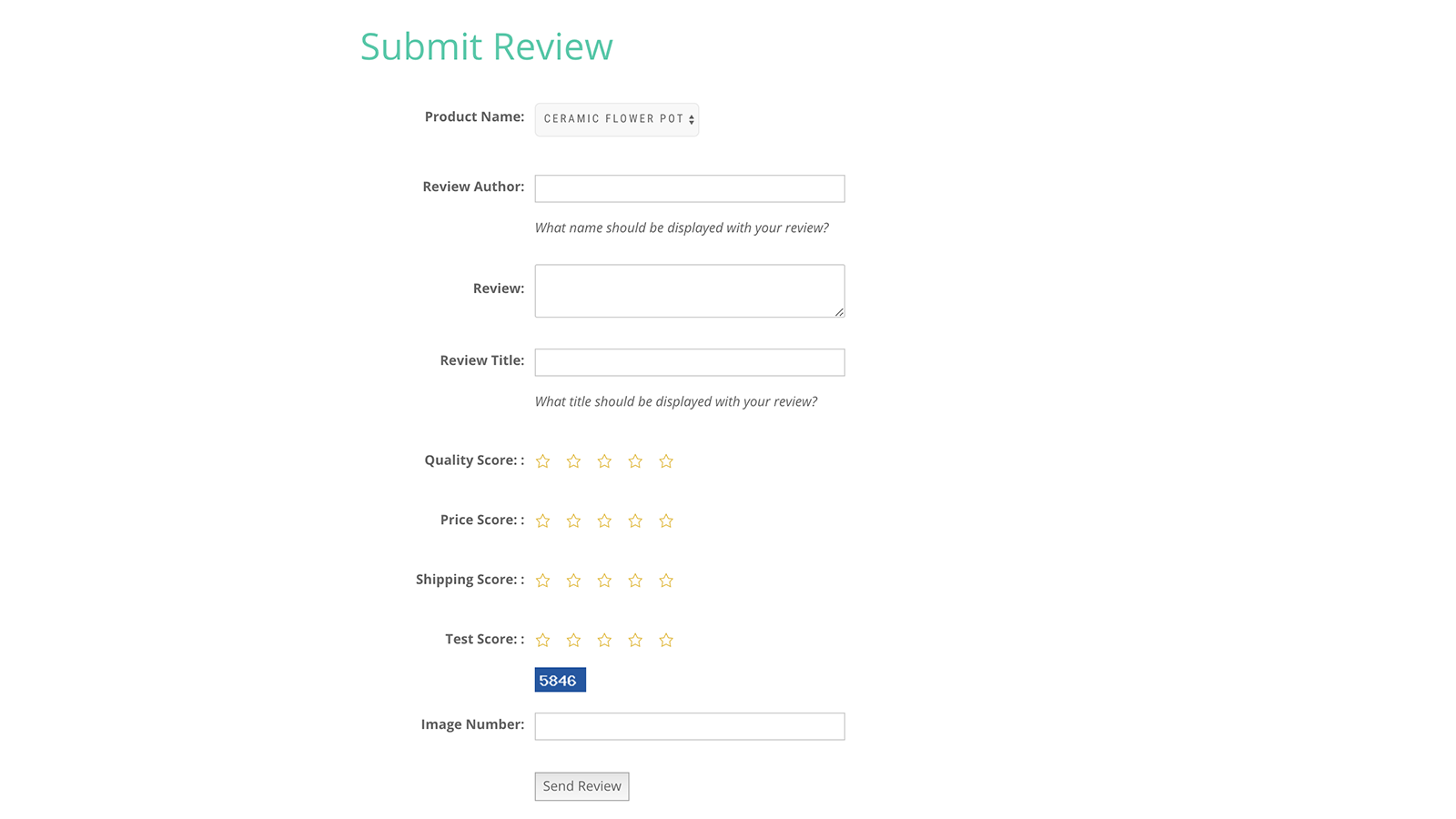 Submit Review Form