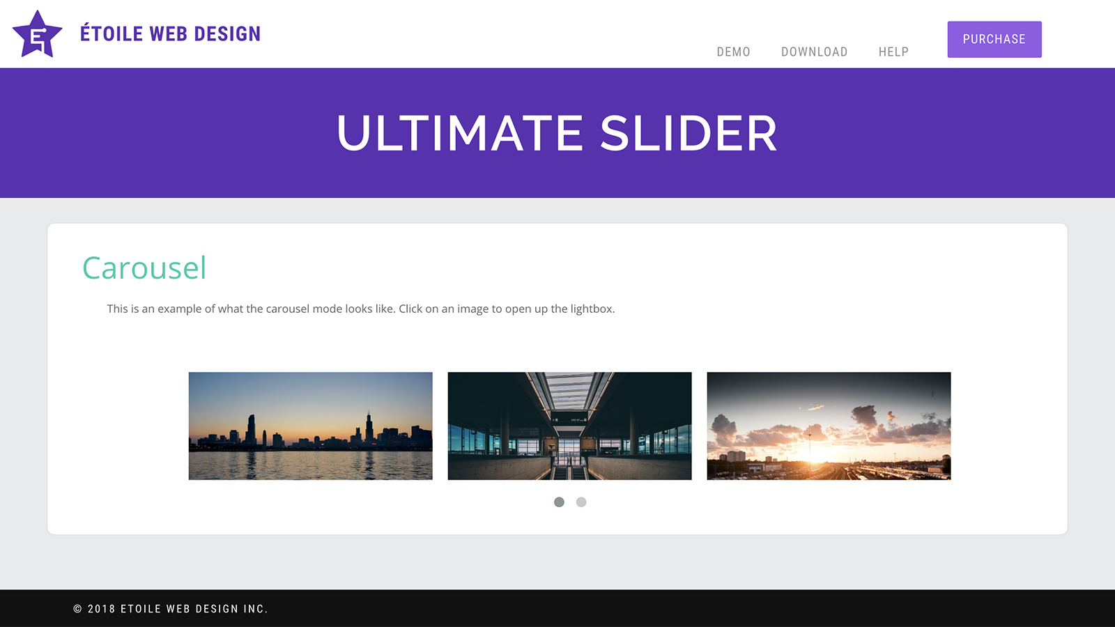 Slider in Carousel Mode